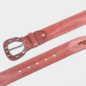 Стильный коричневый женский джинсовый ремень ATS-211 217441