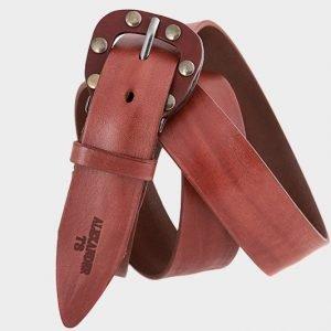 Стильный коричневый женский джинсовый ремень ATS-211 217442