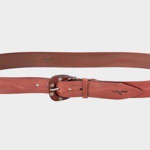Стильный коричневый женский джинсовый ремень ATS-211