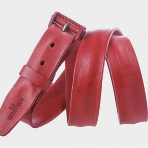 Солидный красный мужской джинсовый ремень ATS-306 217374