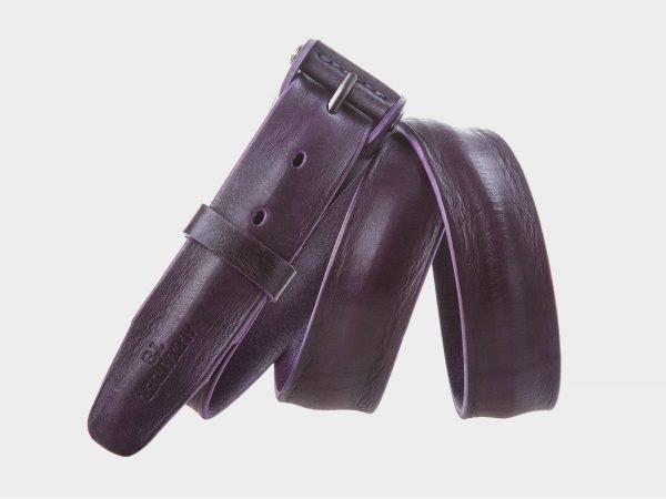 Кожаный фиолетовый женский джинсовый ремень ATS-300