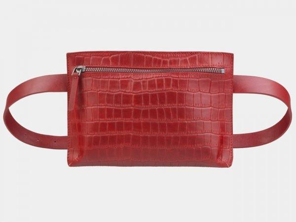 Функциональная красная женская сумка на пояс ATS-2350