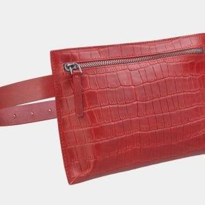 Функциональная красная женская сумка на пояс ATS-2350 215423