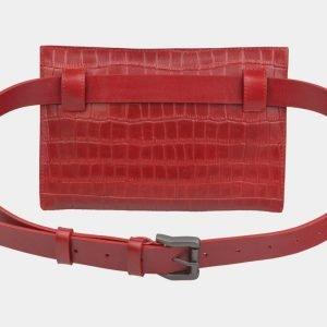 Функциональная красная женская сумка на пояс ATS-2350 215424