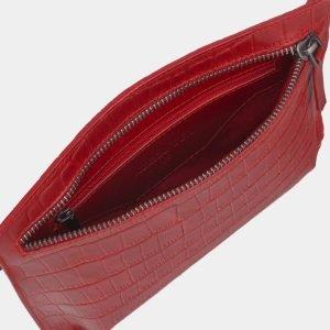 Функциональная красная женская сумка на пояс ATS-2350 215425