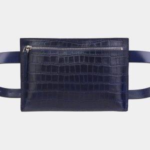 Вместительная синяя женская сумка на пояс ATS-2349