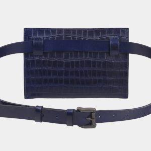 Вместительная синяя женская сумка на пояс ATS-2349 215429