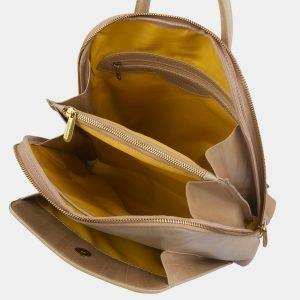 Деловой бежевый рюкзак кожаный ATS-2976 213756