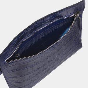 Вместительная синяя женская сумка на пояс ATS-2349 215430