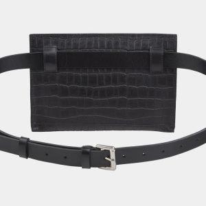 Модная черная женская сумка на пояс ATS-2348 215434