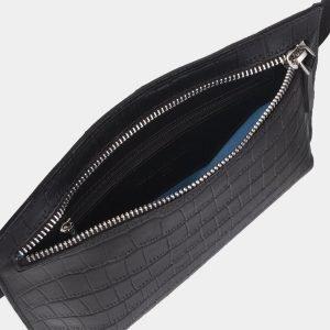 Модная черная женская сумка на пояс ATS-2348 215435