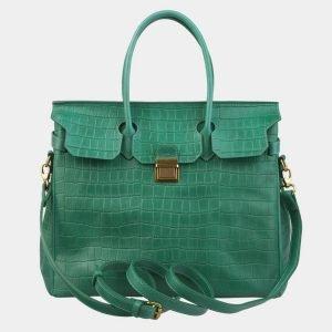 Стильная зеленая женская сумка ATS-2979