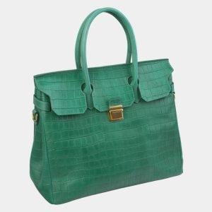 Стильная зеленая женская сумка ATS-2979 213749