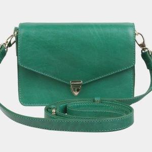 Вместительная зеленая женская сумка на пояс ATS-2983