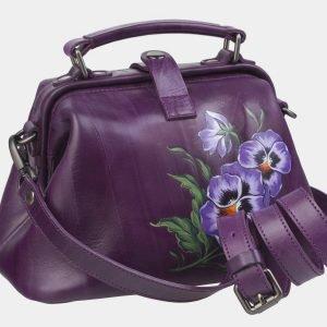 Деловая фиолетовая сумка с росписью ATS-2367 215394
