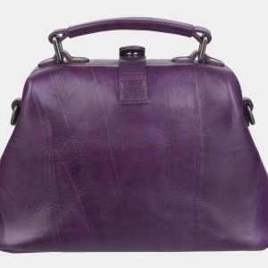 Деловая фиолетовая сумка с росписью ATS-2367 215395