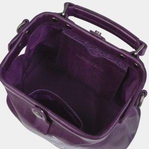 Деловая фиолетовая сумка с росписью ATS-2367 215396