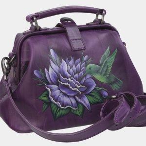 Неповторимая фиолетовая сумка с росписью ATS-2368