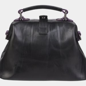 Функциональная черная сумка с росписью ATS-2369 215385