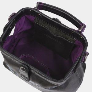 Функциональная черная сумка с росписью ATS-2369 215386
