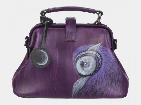 Модная фиолетовая сумка с росписью ATS-2370