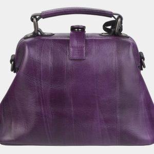 Деловая фиолетовая сумка с росписью ATS-2370
