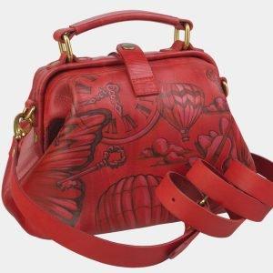 Вместительная красная сумка с росписью ATS-2371 215374