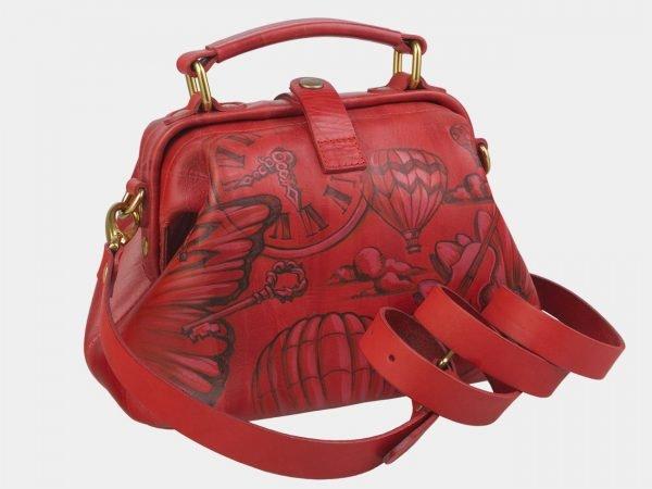 Уникальная красная сумка с росписью ATS-2371