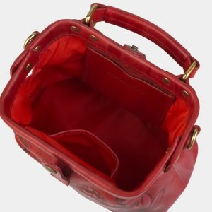 Вместительная красная сумка с росписью ATS-2371 215376