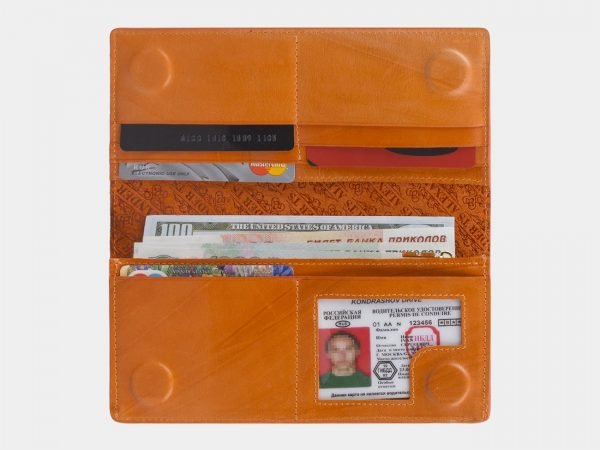 Удобный оранжевый кошелек ATS-2990