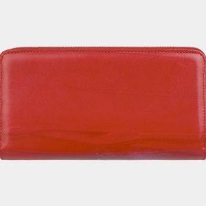Вместительный красный портмоне с росписью ATS-2999 213708