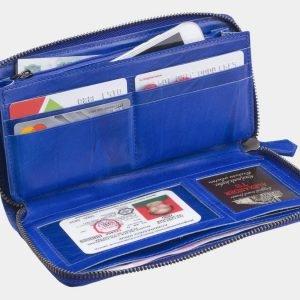 Деловой голубовато-синий портмоне с росписью ATS-3000 213705