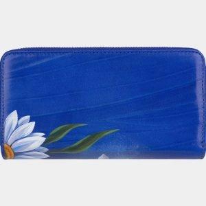 Деловой голубовато-синий портмоне с росписью ATS-3000 213704