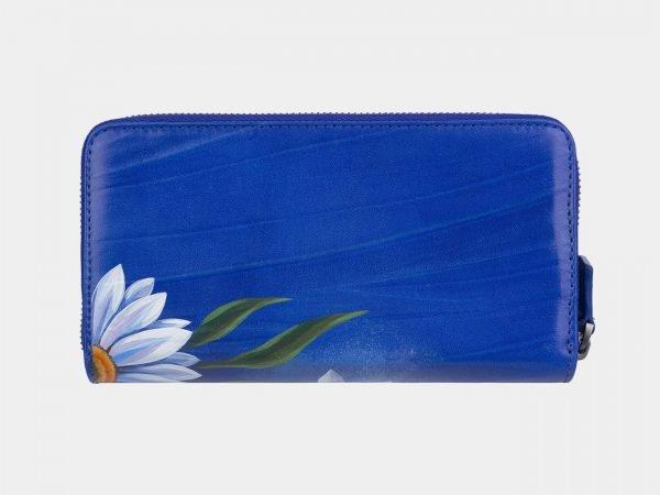 Неповторимый голубовато-синий портмоне с росписью ATS-3000