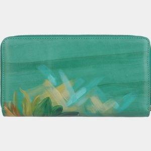 Стильный зеленый портмоне с росписью ATS-3001 213700