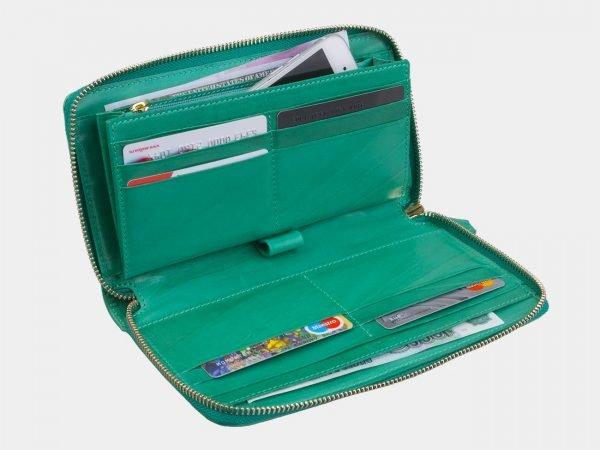 Деловой зеленый портмоне с росписью ATS-3001