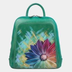 Стильный зеленый рюкзак с росписью ATS-3003
