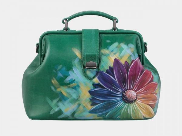 Деловая зеленая сумка с росписью ATS-3006