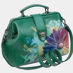 Деловая зеленая сумка с росписью ATS-3006 213681
