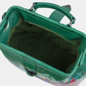 Деловая зеленая сумка с росписью ATS-3006 213683