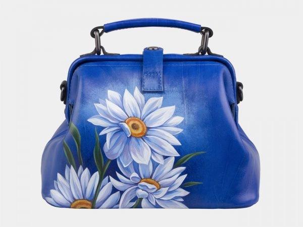 Неповторимая голубовато-синяя сумка с росписью ATS-3007
