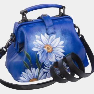 Неповторимая голубовато-синяя сумка с росписью ATS-3007 213676