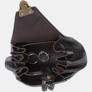 Кожаная коричневая косметичка ATS-1874