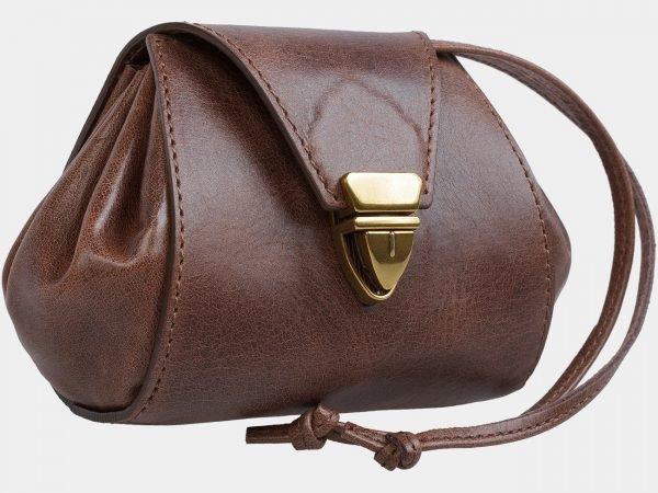 Стильная коричневая косметичка ATS-1876