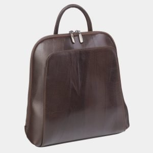 Модный коричневый рюкзак кожаный ATS-2395 215305