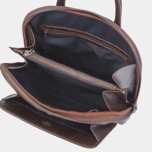 Модный коричневый рюкзак кожаный ATS-2395 215307