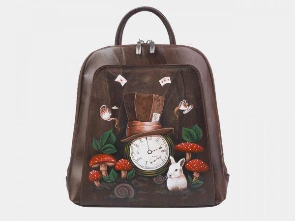 Стильный коричневый рюкзак с росписью ATS-2374