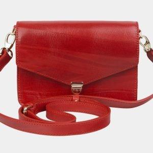 Модная красная женская сумка на пояс ATS-2147