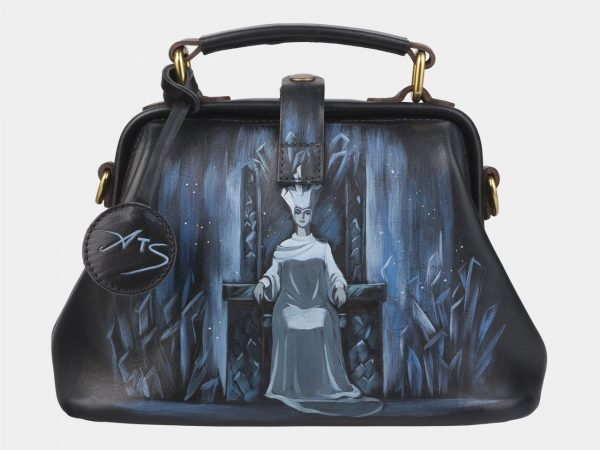 Уникальная черная сумка с росписью ATS-2379
