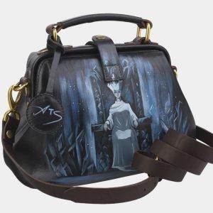 Уникальная черная сумка с росписью ATS-2379 215355